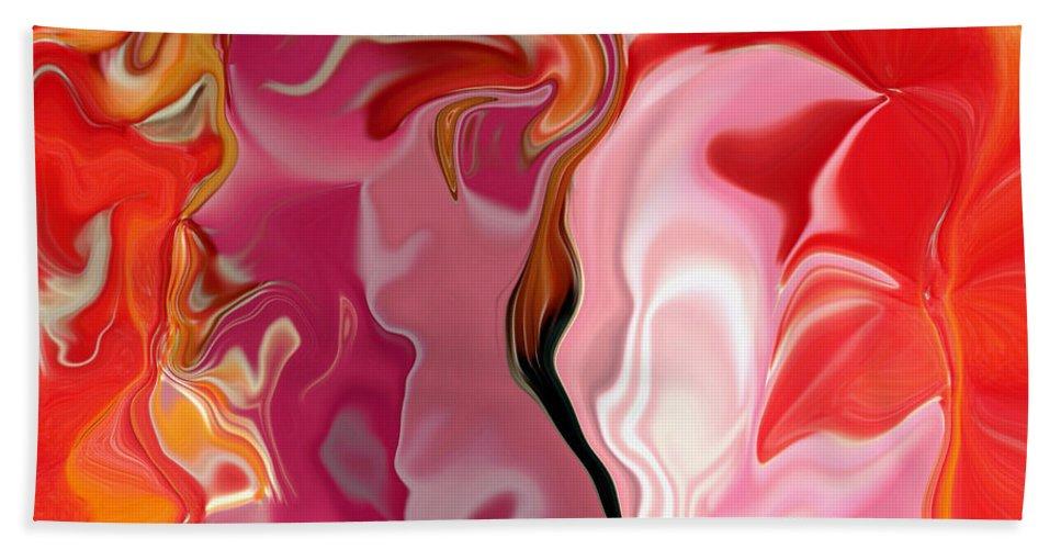Face Art Bath Towel featuring the digital art Painted Face's by Linda Sannuti