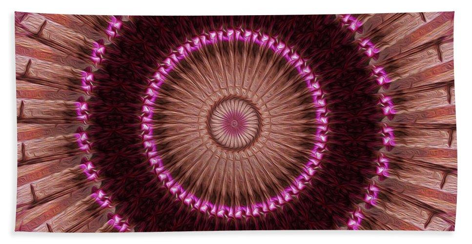 Kaleidoscope Hand Towel featuring the digital art Painted Kaleidoscope 14 by Rhonda Barrett