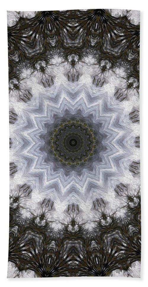 Painted Bath Sheet featuring the digital art Painted Kaleidoscope 16 by Rhonda Barrett