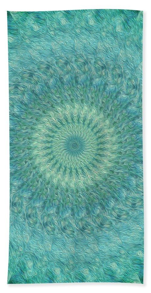 Kaleidoscope Bath Sheet featuring the digital art Painted Kaleidoscope 4 by Rhonda Barrett