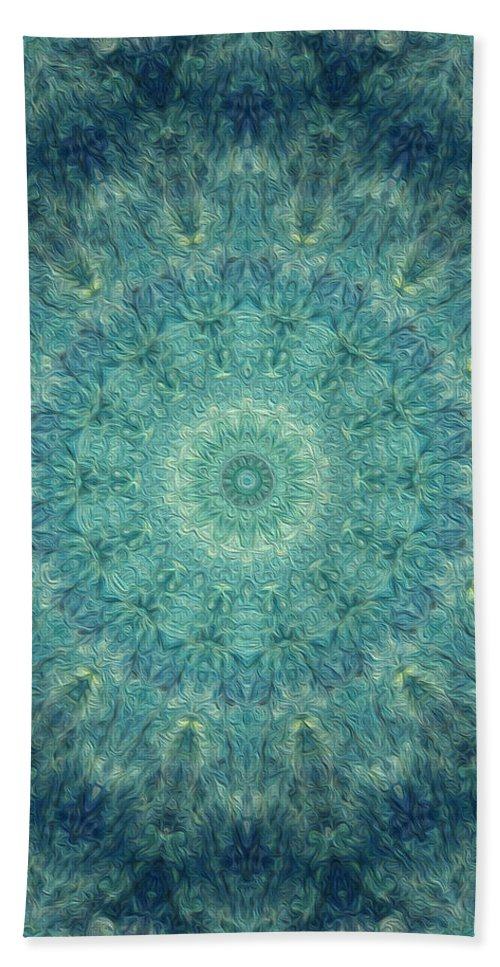 Kaleidoscope Bath Sheet featuring the digital art Painted Kaleidoscope 5 by Rhonda Barrett
