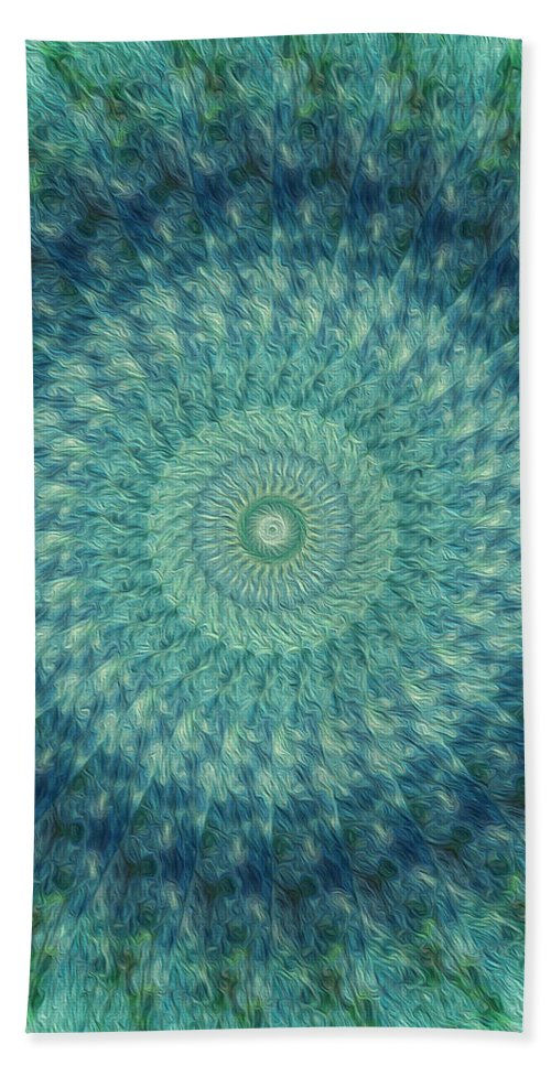 Kaleidoscope Bath Sheet featuring the digital art Painted Kaleidoscope 7 by Rhonda Barrett