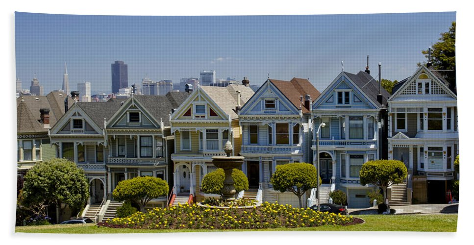 Painted Ladies Bath Sheet featuring the photograph Painted Ladies by Brian Kamprath