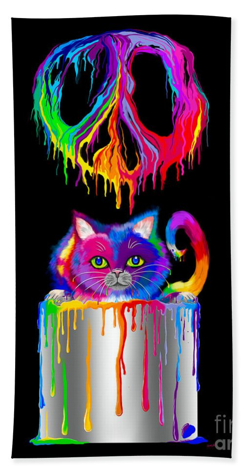 Peace Hand Towel featuring the digital art Painted Peace by Nick Gustafson