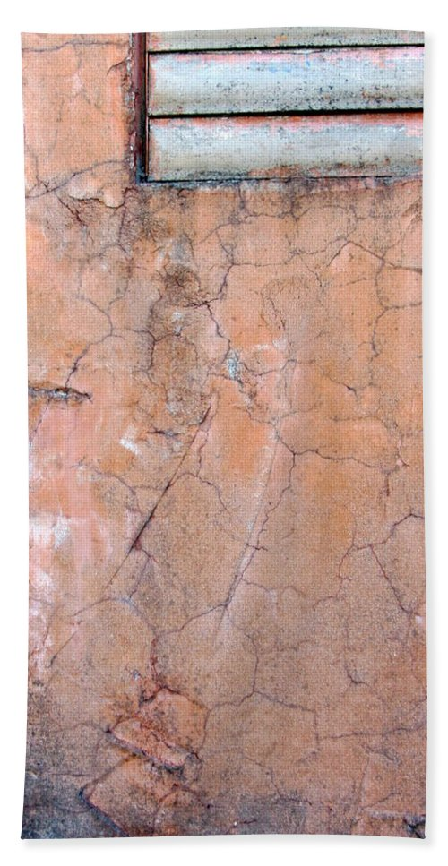 Architecture Bath Sheet featuring the photograph Painted Pink Concrete by Anita Burgermeister