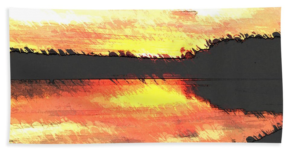 Sunset Bath Sheet featuring the photograph Painted Sunset by Donna Brown