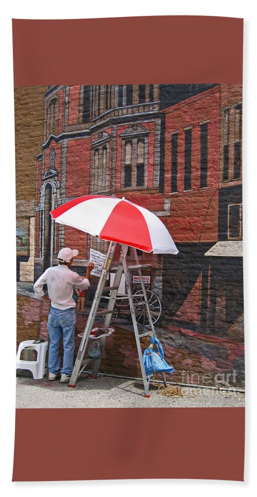 Artist Hand Towel featuring the photograph Painting The Past by Ann Horn