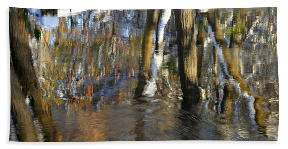 Ed Riche Hand Towel featuring the photograph Painting With Light The Mind For Existence by Ed Riche