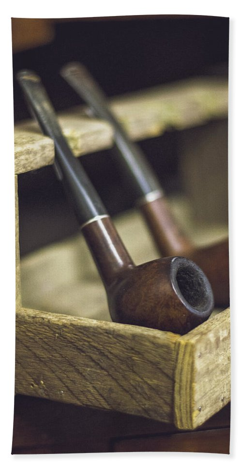 Pipe Bath Sheet featuring the photograph Pair Of Pipes by Heather Applegate