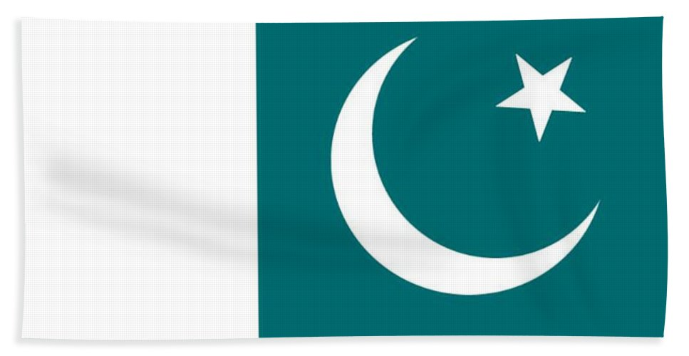 Pakistan Hand Towel featuring the digital art Pakistan Flag by Frederick Holiday