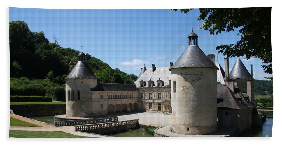 Palace Bath Sheet featuring the photograph Palace Bussy - Rabutin - Burgundy by Christiane Schulze Art And Photography