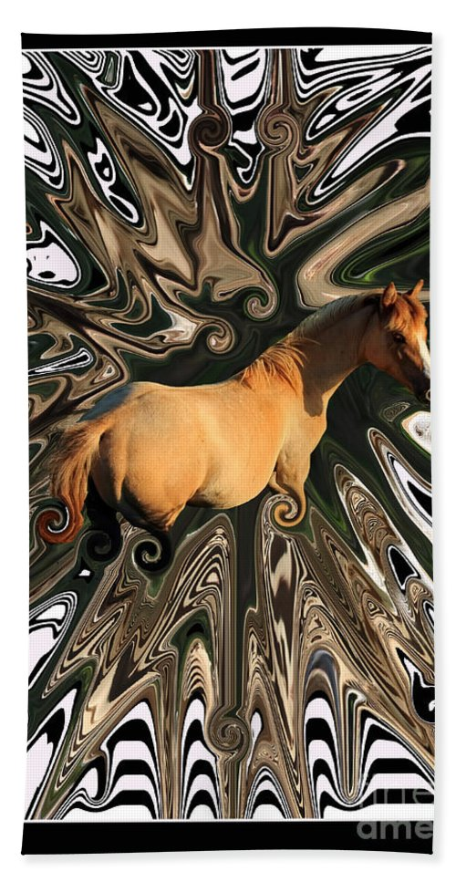 Abstract Hand Towel featuring the photograph Pale Horse by Aidan Moran
