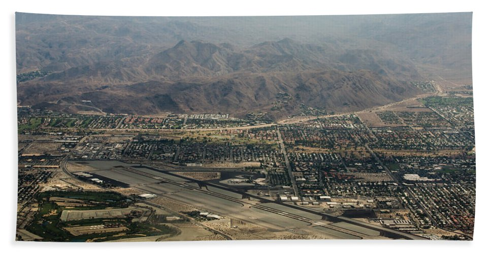 Palm Springs Bath Sheet featuring the photograph Palm Springs International Airport by John Daly