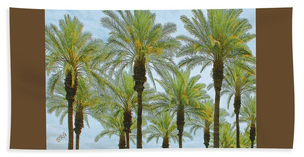 Palm Hand Towel featuring the photograph Palms by Ben and Raisa Gertsberg