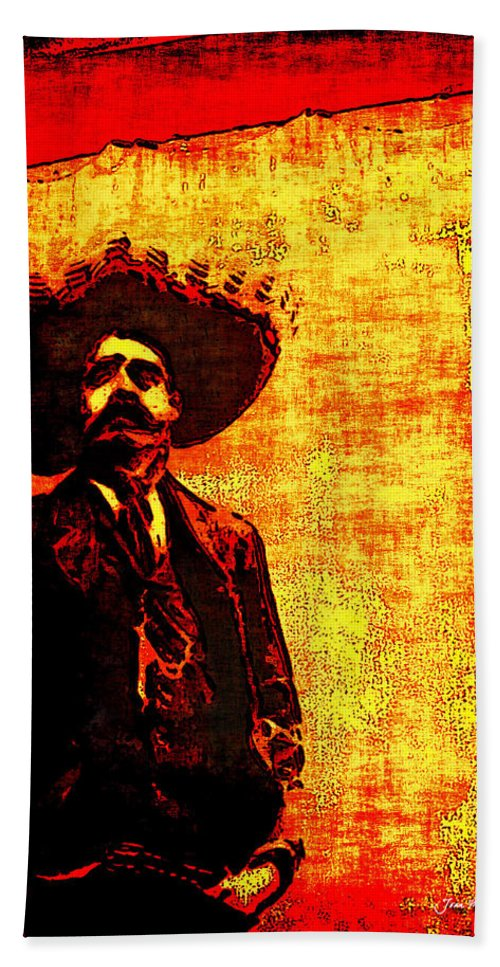 Arango Bath Sheet featuring the photograph Pancho Villa by Joan Minchak