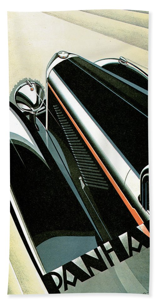 Vintage Automobile Ads And Posters Hand Towel featuring the photograph Panhard by Vintage Automobile Ads and Posters