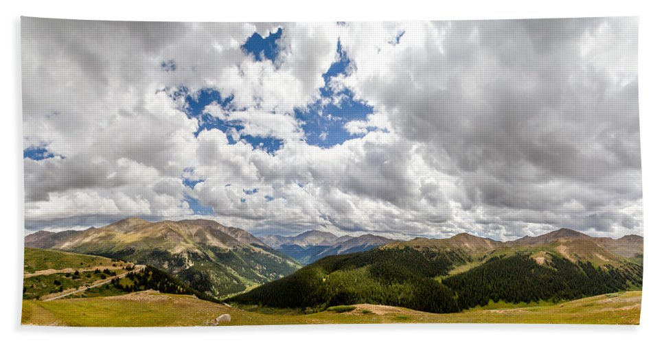 Independence Pass Hand Towel featuring the photograph Panorama Atop Independence Pass by Jeff Stoddart