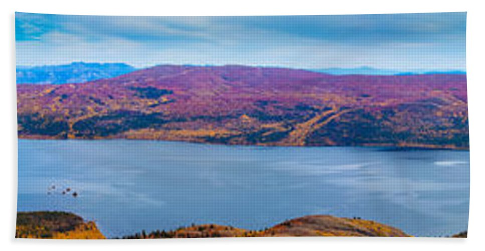 Adventure Bath Towel featuring the photograph Panorama Of Fish Lake Yukon Territory Canada by Stephan Pietzko