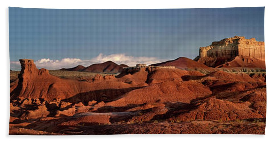 North America Hand Towel featuring the photograph Panorama Of Goblin Valley State Park Utah by Dave Welling