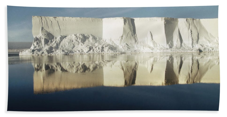 Sunshine Hand Towel featuring the photograph Panorama Of Iceberg Ross Sea Antarctica by Carole-Anne Fooks