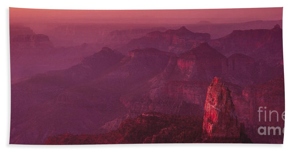 Landscape Bath Sheet featuring the photograph Panorama Pre-dawn At Point Imperial Grand Canyon National Park by Dave Welling
