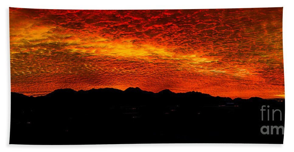 Sunrise Hand Towel featuring the photograph Panoramic Sunrise by Robert Bales