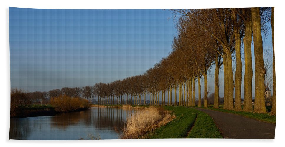 Night Bath Sheet featuring the photograph Panoramic View On Pottes - Belgium by TouTouke A Y