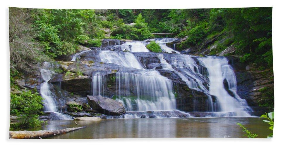 Panther Creek Falls Bath Sheet featuring the photograph Panther Creek Falls by Barbara Bowen