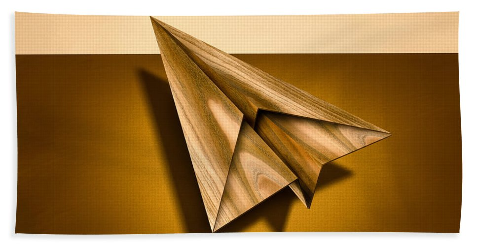 Aircraft Hand Towel featuring the photograph Paper Airplanes Of Wood 1 by YoPedro