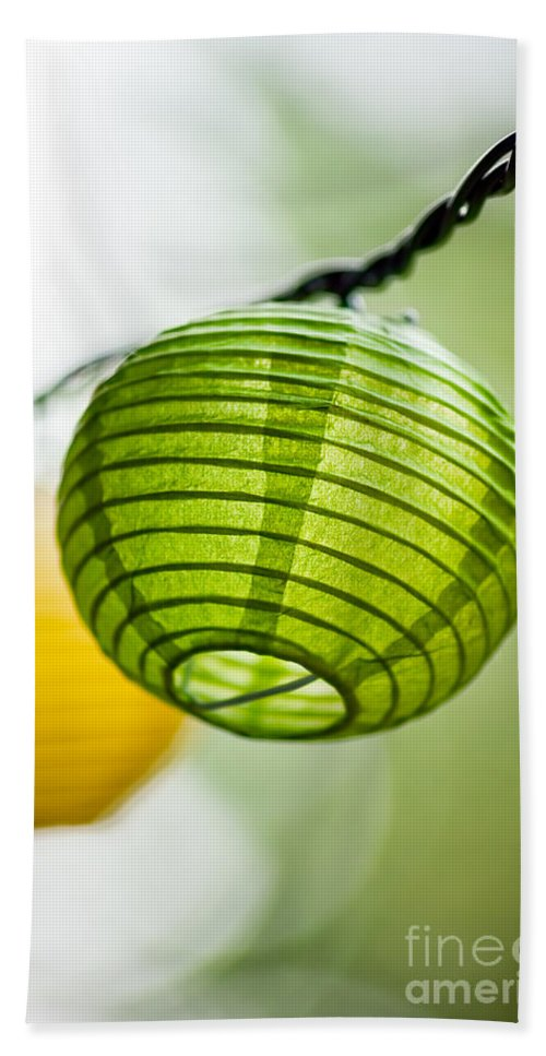 Close Up Bath Sheet featuring the photograph Paper Lanterns by Leslie Banks
