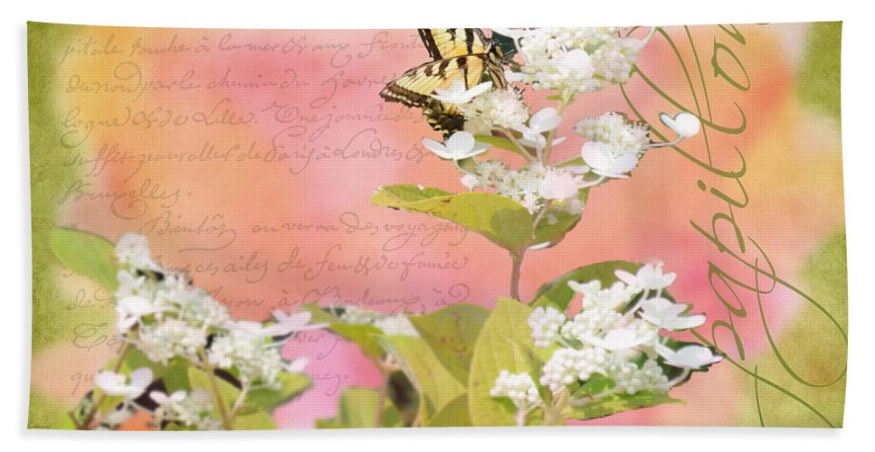 Wright Bath Sheet featuring the photograph Papillon by Paulette B Wright