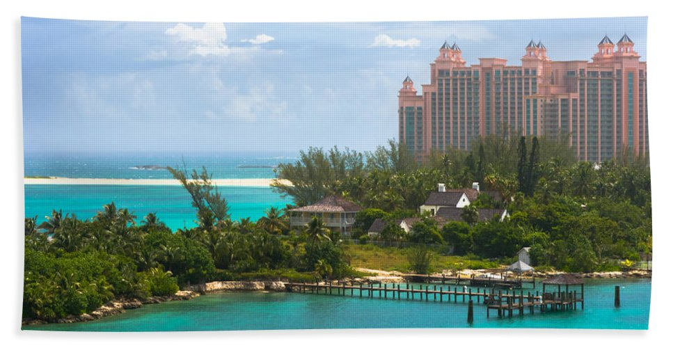 Aquamarine Bath Sheet featuring the photograph Paradise And Atlantis by Ed Gleichman