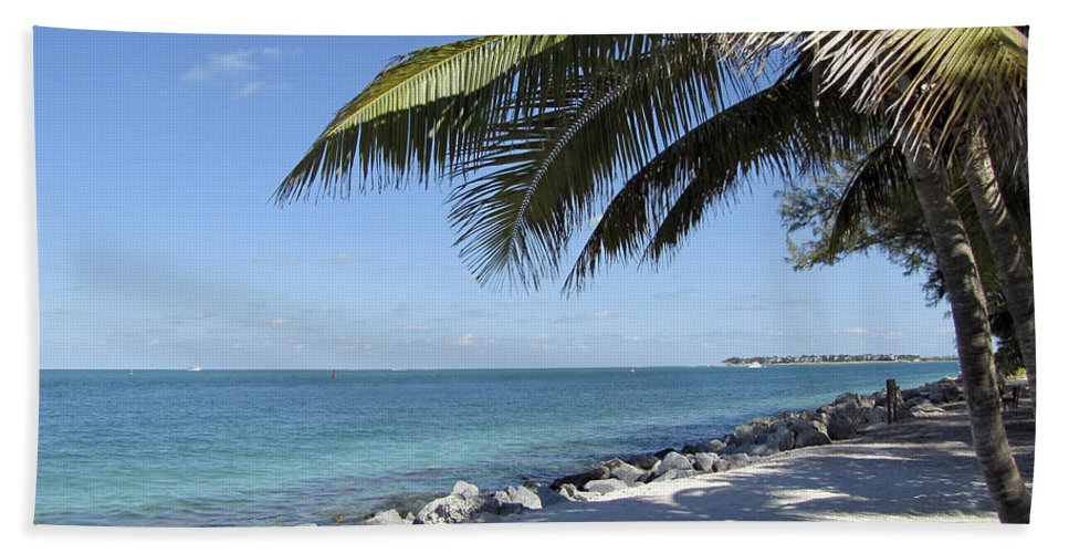 Tropical Hand Towel featuring the photograph Paradise - Key West Florida by Bob Slitzan