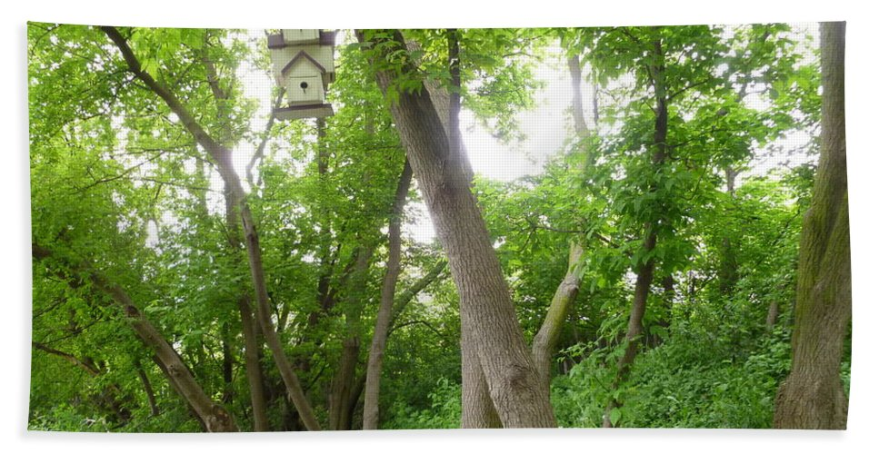 Garden Landscape Bath Sheet featuring the photograph Paradise For Birds by Lingfai Leung
