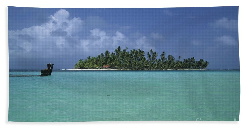 Caribbean Bath Sheet featuring the photograph Paradise Island 2 by James Brunker