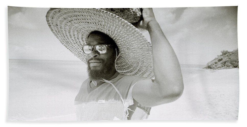 Black And White Bath Sheet featuring the photograph Paradise Island by Shaun Higson
