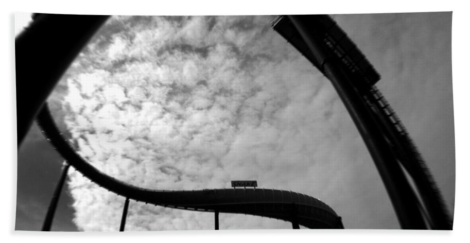 Roller Coaster Hand Towel featuring the photograph Parallel Lines Composition by Doc Braham