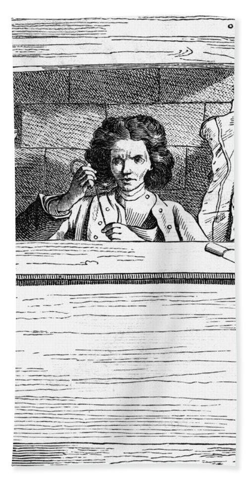 1740 Bath Sheet featuring the painting Paris Cobbler, C1740 by Granger
