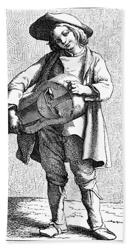 1740 Bath Sheet featuring the painting Paris Musician, C1740 by Granger