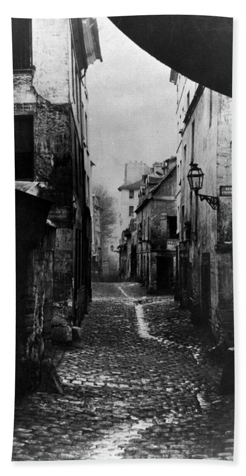 1860 Bath Sheet featuring the photograph Paris Old Street, C1860 by Granger