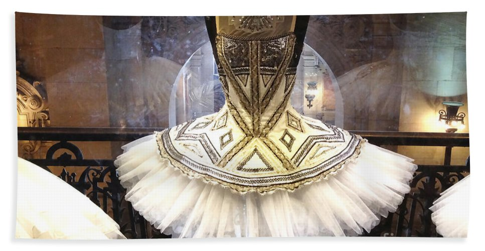 Paris Ballerina Tutu Hand Towel featuring the photograph Paris Opera House Ballerina Costume Tutu - Paris Opera Des Garnier Ballerina Tutu Dresses by Kathy Fornal