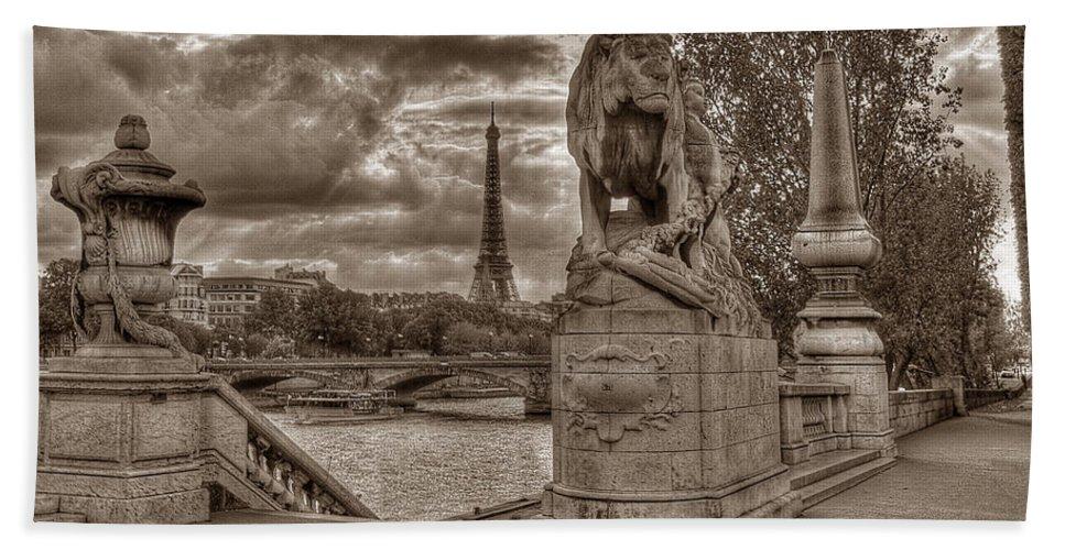 Paris Bath Sheet featuring the photograph Paris Panorama by Michael Kirk
