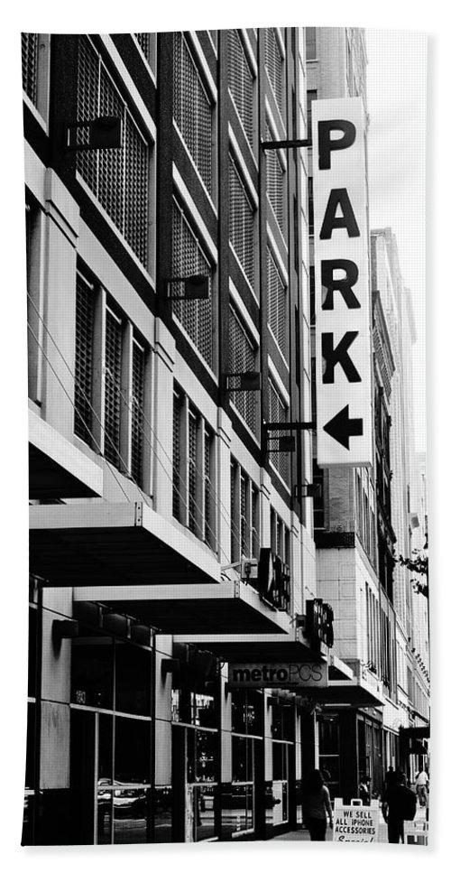 Parking Hand Towel featuring the photograph Park... Bw... Detroit by Daniel Thompson