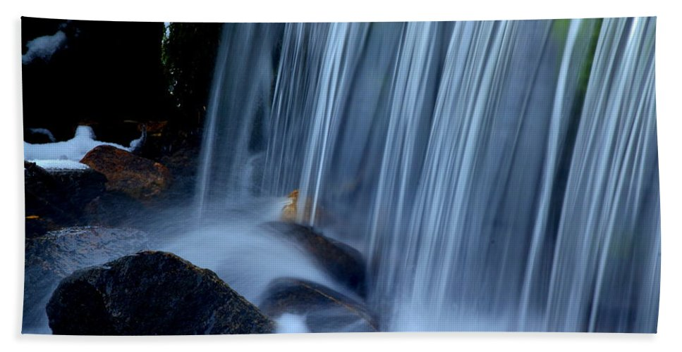 Park City Utah Hand Towel featuring the photograph Park City Waterfall by Richard Cheski