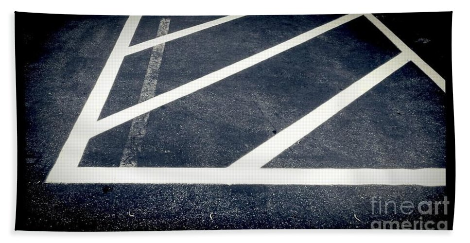 Black And White Photography Hand Towel featuring the photograph Parking Lot No. 30 by Fei A