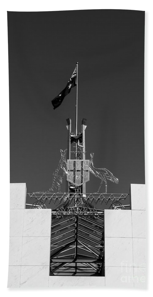Australia Bath Sheet featuring the photograph Parliament Entrance by Steven Ralser