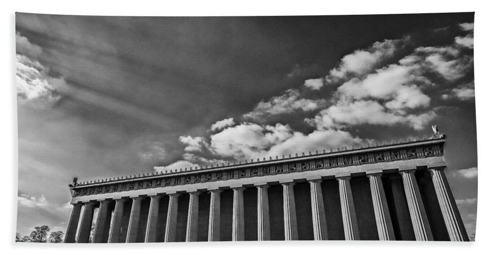 Www.cjschmit.com Bath Sheet featuring the photograph Parthenon by CJ Schmit