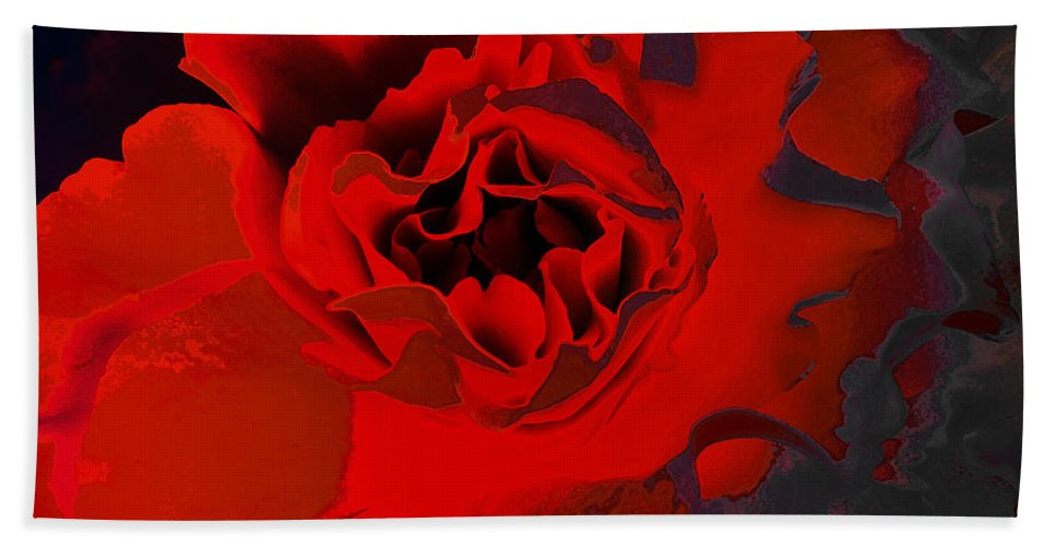 Flower Hand Towel featuring the photograph Luxury by David Pantuso