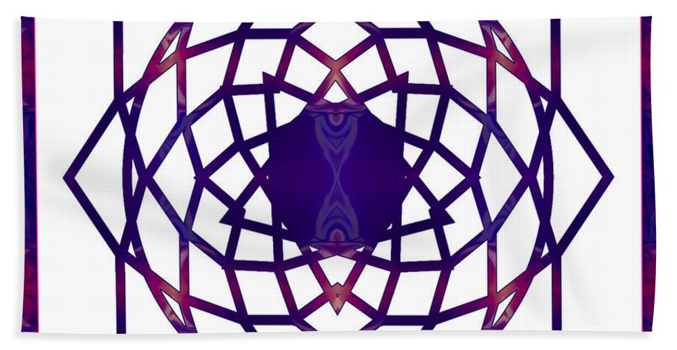 1x1 Bath Sheet featuring the digital art Passionate Purple Prayers Abstract Chakra Art By Omaste Witkowsk by Omaste Witkowski