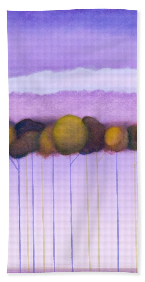 Colorchrome Atlanta Scans Hand Towel featuring the painting Passionate Twilight Vii by Jerome Lawrence